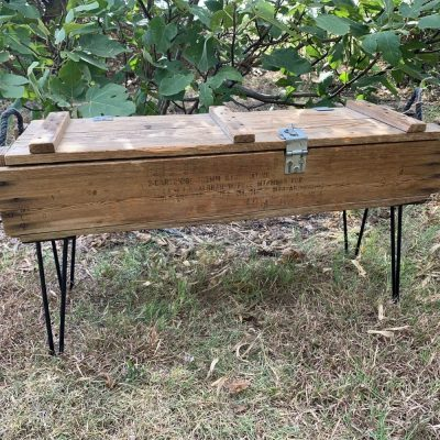 How to Make a Coffee Table with an Old Ammo Box {VIDEO}