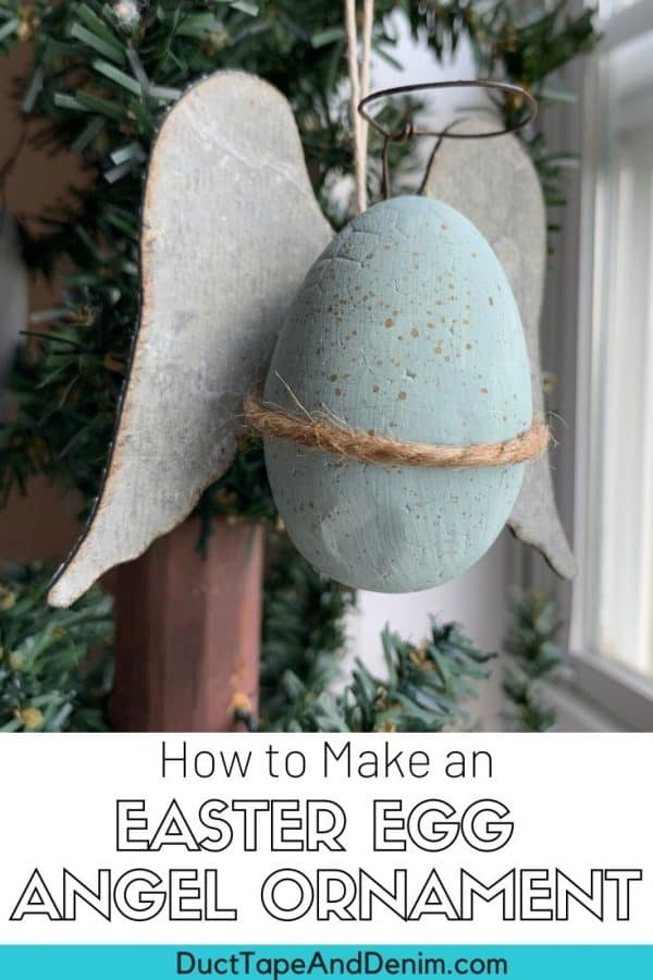 DIY Easter Egg angel ornament