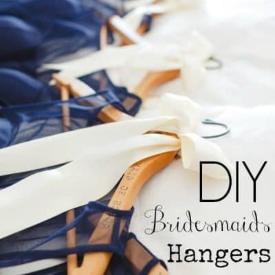 How to Make Personalized Bridesmaids Hangers