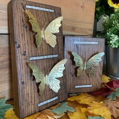How to Make Beautiful Brass Butterfly Wall Decor