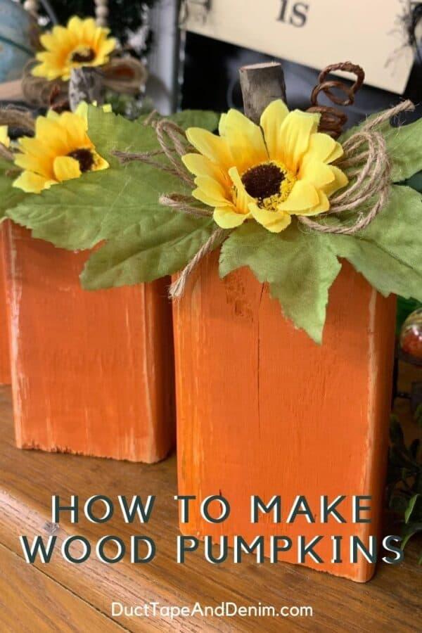 how to make wood pumpkins