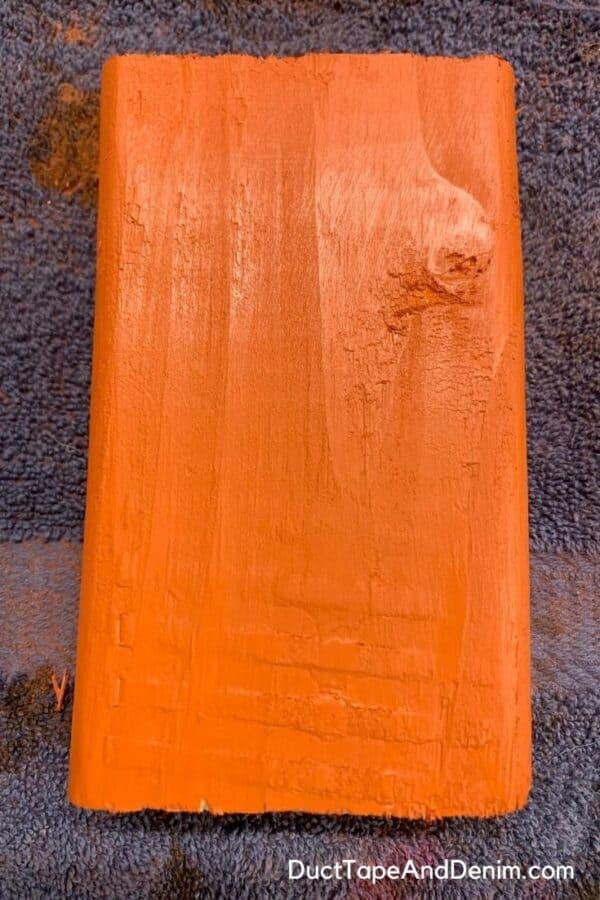 2x4 painted orange