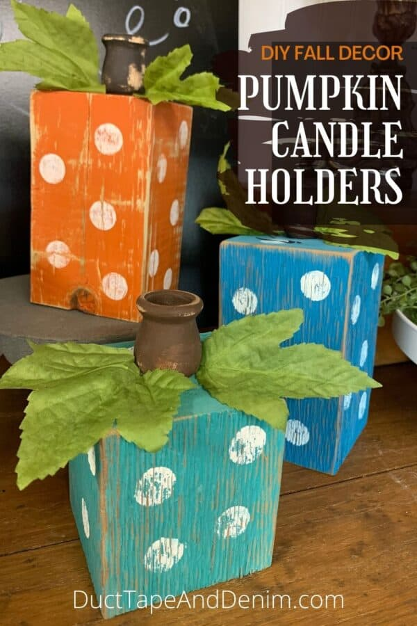 diy fall decor pumpkin candle holders