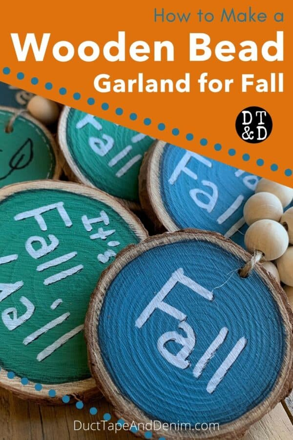 how to make a wooden bead garland for fall