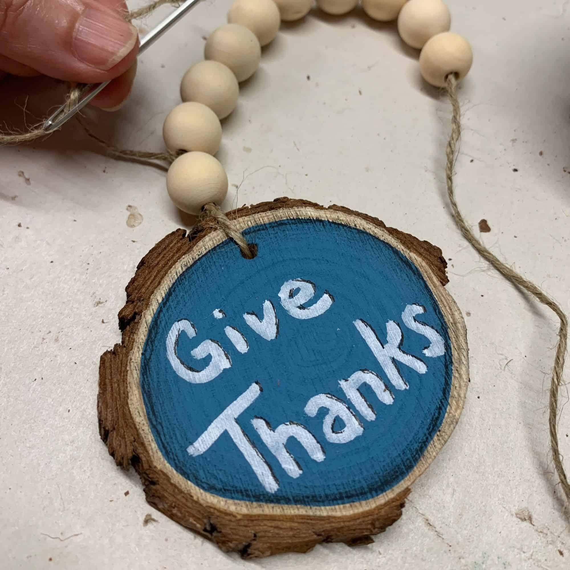 How To Make A Wooden Bead Garland Ornament For Fall