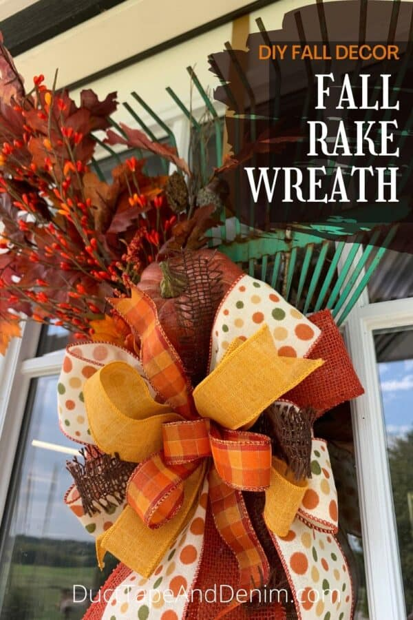 DIY Fall Decor - Fall Rake Wreath