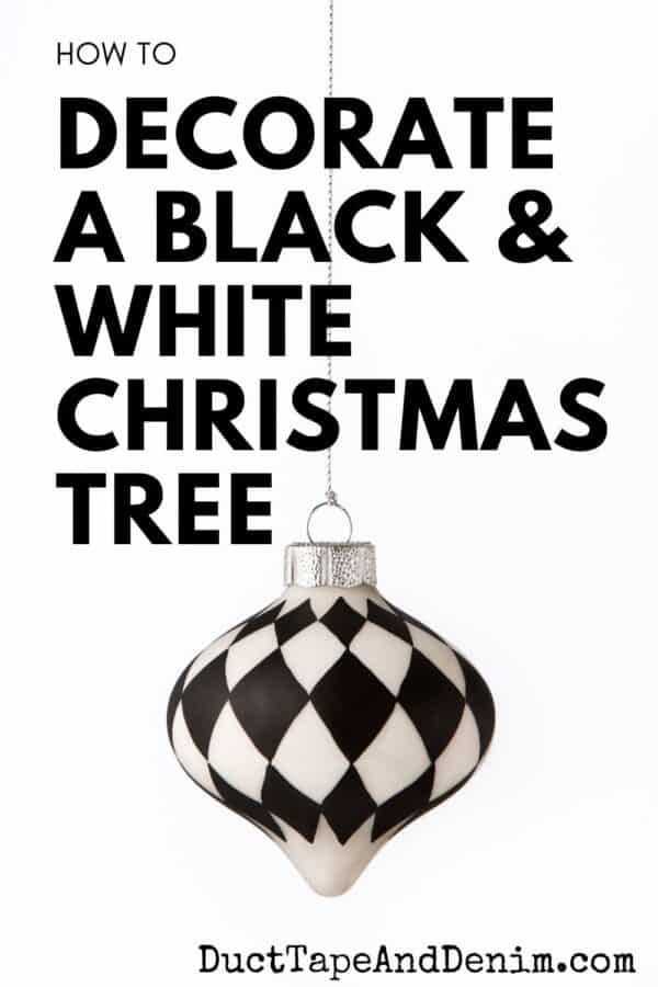 how to decorate a black and white christmas tree (1)