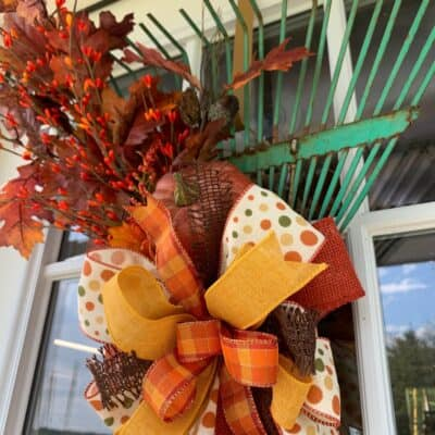 How to Make an Easy Fall Wreath from an Old Rake {Video}