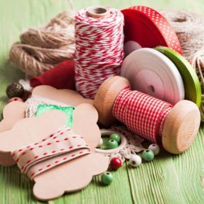 pile of ribbons, string, and beads - how to make money on craft stash